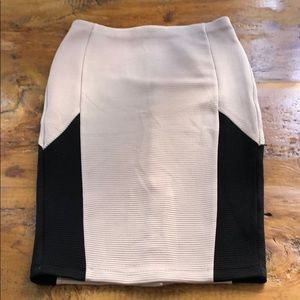 Pencil skirt blush pink and black size small